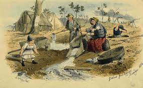 Women and children at the goldfields